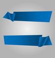 set blue ribbon banner icon vector image vector image