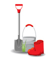 set of garden tools on white vector image vector image