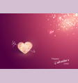 shiny heart soft beautiful background vector image vector image