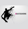 silhouette of a skateboarder vector image vector image