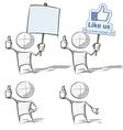 Simple People Like vector image vector image