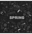 Spring chalk line art design vector image vector image