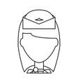 stewardess profile cartoon vector image