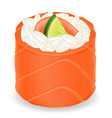 sushi rolls 08 vector image vector image