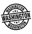 washington black round grunge stamp vector image vector image