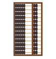 Wooden abacus icon vector image vector image