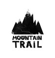 card mountain trail to the top black and white vector image