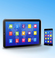 tablet pc and touchscreen smartphone vector image