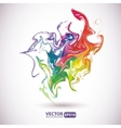 Colorful stains of paint abstract background vector image