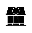 shop - store icon black sign vector image