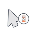 arrow busy cursor mouse pointer icon vector image