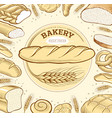 bakery food items bread baguette in wheat circle