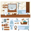 bathroom decoration concept vector image vector image