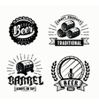 beer badges vector image vector image