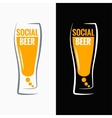 beer glass social media concept background vector image vector image
