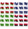 Belarus Nauru Ladonia UPA Set of 36 flags of the vector image vector image