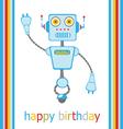 Birthday robot vector image vector image