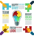 Bright idea creative conceptual background vector image vector image
