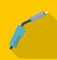 burning gas icon flat style vector image vector image