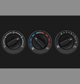 car dashboard knob switch set auto air vector image vector image
