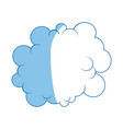 cartoon cloud graffiti artistic design vector image