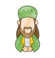 cartoon man of orient christian design vector image vector image