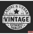 Casual and urban vintage stamp vector image vector image