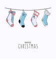 christmas gift stocking hanging advertising merry vector image