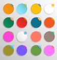 Colorful circle set vector image vector image