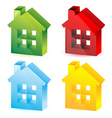 colorful houses vector image vector image
