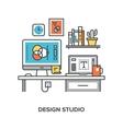 design studio concept vector image vector image