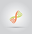 dna isolated colored icon vector image