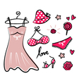 Fashion retro icons and accessories vector image