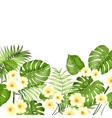 Floral garland card vector image vector image
