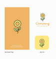 flower company logo app icon and splash page vector image