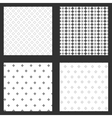 four frames of wallpapers design vector image vector image