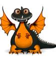 funny black dragon vector image vector image