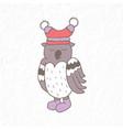 funny owl nursery art minimalist scandinavian vector image vector image