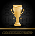 Golden Championship Cup vector image vector image
