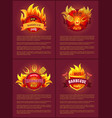 grill barbecue party tasty set vector image vector image