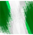 grunge background in colors of nigerian flag vector image vector image