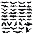 halloween bats silhouettes vector image vector image