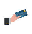 hand holding credit card payment image vector image