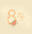 happy womens day march 8th background vector image vector image