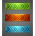Hi-tech banners with arrows vector image vector image