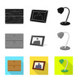 isolated object of dreams and night symbol set of vector image