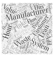 lean manufacturing system Word Cloud Concept vector image vector image