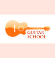logo emblem for guitar music school vector image vector image
