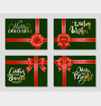 merry christmas warm wishes cookies for santa vector image vector image