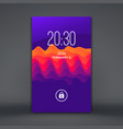 modern lock screen for mobile apps abstract vector image